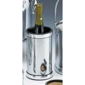 Kraftware 70078 Polished Chrome Wine Chiller with Bands