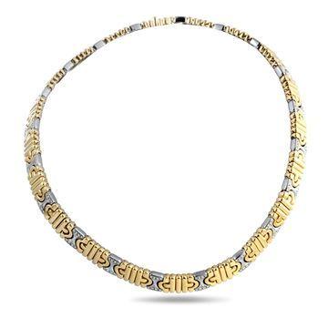 Bvlgari Parentesi Yellow and White Gold Diamond Choker Necklace