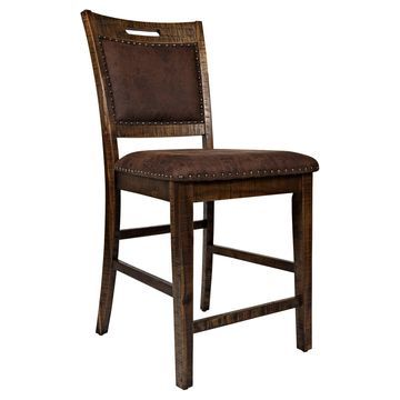 Jofran Cannon Valley Upholstered Back Counter Stool - Set of 2