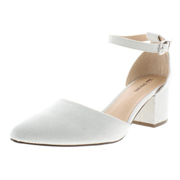 Call It Spring Womens Aiven Faux Suede Block Heel Pumps