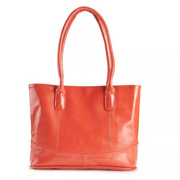 AmeriLeather Casual Patent Leather Tote