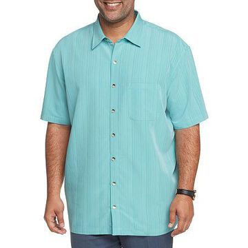 Van Heusen Mens Air Camps Classic Fit Striped Short-Sleeve Button-Front Shirt - Big and Tall