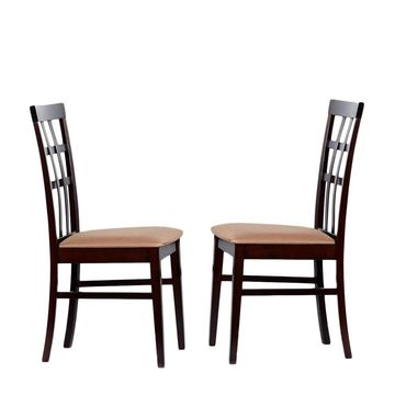 Warehouse of Tiffany Justin Light Capuccino Dining Chairs (Set of 4) (Extra Tall - Over 33 in. - Set of 4 - Cappuccino)