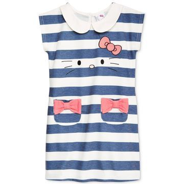Toddler Girls Striped Embroidered Dress