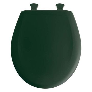 Bemis 200SLOWT 375 Plastic Round Slow-Close Toilet Seat, Rain Forest