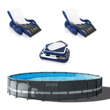 Intex 24-ft x 24-ft x 52-in Round Above-Ground Pool | 142012