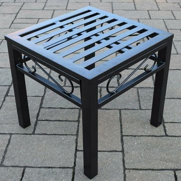 Oakland Living Noble Wrought Iron Patio End Table