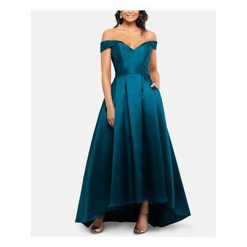 XSCAPE Teal Full-Length Dress 2