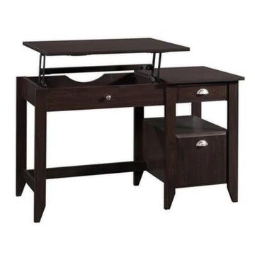 Sauder Shoal Creek Lift Top Desk in Jamocha