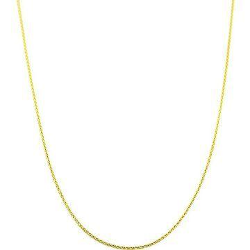 Fremada 14k Yellow Gold 18-inch Diamond-cut Round Wheat Chain