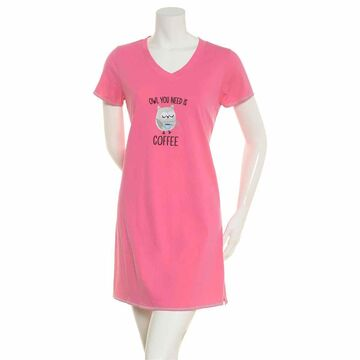 Womens Rene Rofe Owl You Need Is Coffee Embroidered Nightshirt