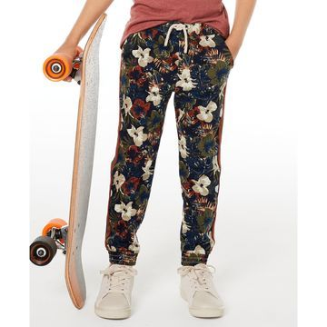 Little Boys Floral-Print Twill Pants, Created for Macy's