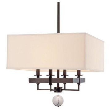 Hudson Valley Gresham Park Four Light Chandelier 5645-OB