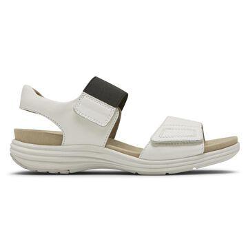 Aravon Womens Beaumont 2-Strap Sandal - Size 6 D White