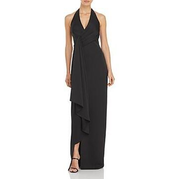 Aidan Mattox Halter Neck Draped Gown