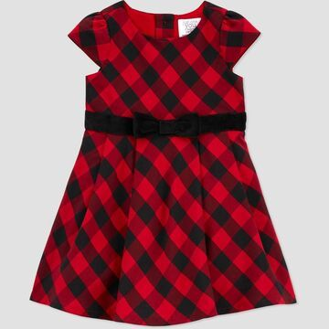 Toddler Girls' Buffalo Plaid Sleeveless Dress - Just One You® made by carter's