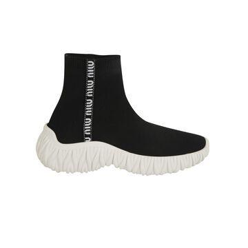 Miu Miu Knit Logo Sock Sneakers