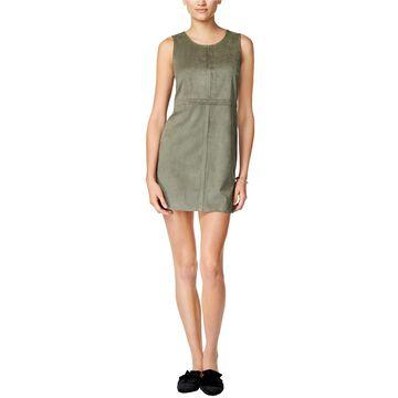 Kensie Womens Faux Suede Mini Dress