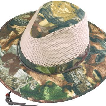 Henschel Men's Polycotton Camo with Mesh Sides Aussie Breezer Safari Hat