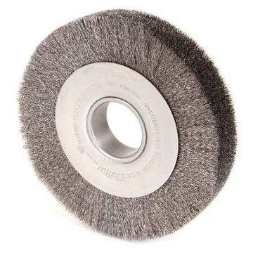 WEILER 03110 Crimped Wire Wheel Wire Brush, Arbor, 8