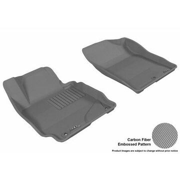 3D MAXpider 2011-2013 Hyundai Elantra Sedan/Coupe Front Row All Weather Floor Liners in Gray with Carbon Fiber Look