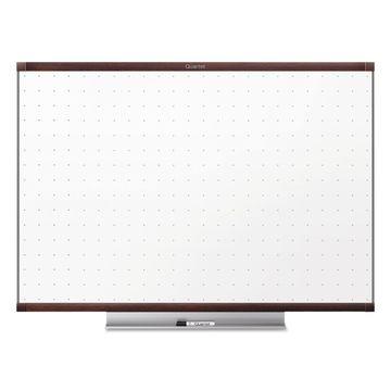 Quartet Prestige 2 Total Erase Whiteboard 72 x 48 Mahogany Color Frame TE547MP2