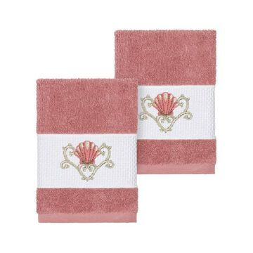 Linum Home Textiles Bella Embellished Washcloth