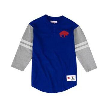 Mitchell & Ness Men's Buffalo Bills Team Logo Henley Top