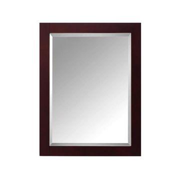 Avanity Modero 24-in Espresso Rectangular Bathroom Mirror