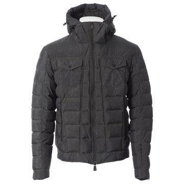Moncler Grey Synthetic Jackets