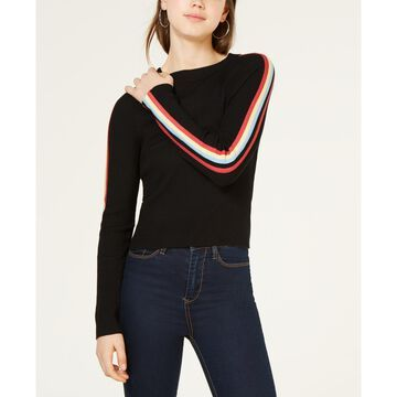 by Papercut Juniors' Striped-Sleeve Sweater