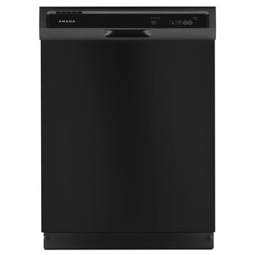 Amana 63-Decibel Front Control 24-in Built-In Dishwasher (Black) ENERGY STAR