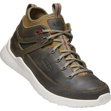 KEEN Men's Highland Mid Sneaker - 12 - Green Lake / Silver Birch