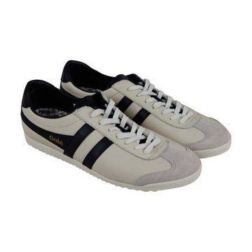 Gola Bullet Off White Black Mens Low Top Sneakers