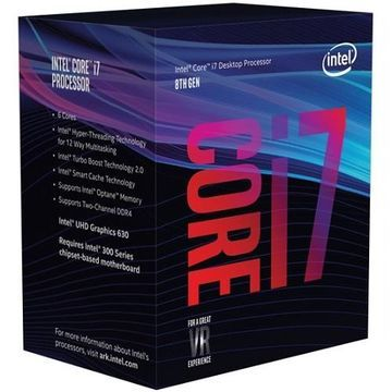 Intel8th Gen Intel Core i7-8700K 12M Cache, up to 4.70GHz Boxed Processor(BX80684I78700K)