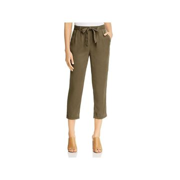Three Dots Womens Cropped Pants Twill Cropped