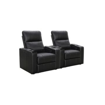 Thomas Power Faux Leather Recliner, Set of 2