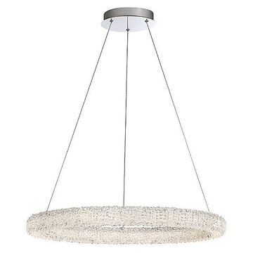 Eurofase Sassi Round LED Chandelier - Color: Clear - 34153-017