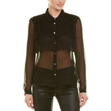 The Kooples Womens Chiffon Silk Shirt