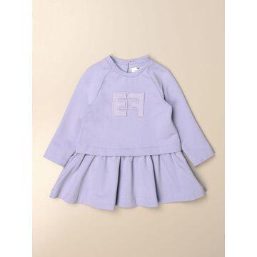 Elisabetta Franchi Sweatshirt Dress In Cotton With Ef Logo