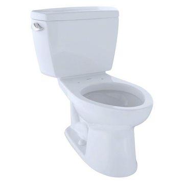 Toto Eco Drake Elongated Two-Piece Toilet, CeFiONtect CST744EG#01 Cotton White