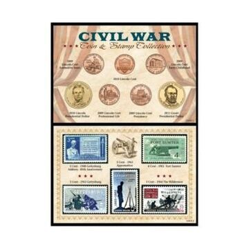 American Coin Treasures Civil War Coin Stamp Collection