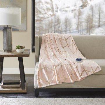 Comfort Classics Arielle Heated Metallic Print Throw