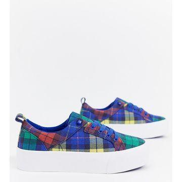 Bershka multi check sneaker