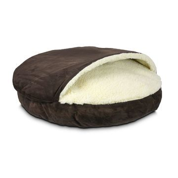 Snoozer Luxury Micro Suede Cozy Cave Pet Bed in Brown