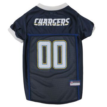 Pets First Los Angeles Chargers Mesh Jersey, XX-Large, Blue / White