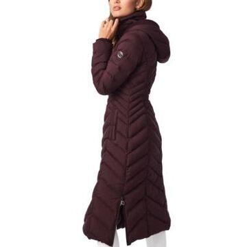 Bernardo Hooded Maxi Puffer Coat