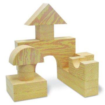 Edushape Big Wood-Like Blocks, 32-Piece