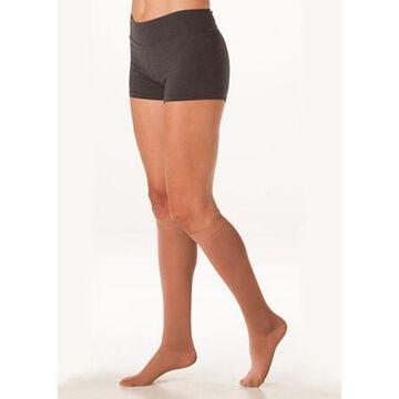 2000ADFFPE57 III Soft 15-20 mmHg Full Foot Knee High Compression Stockings in Petite - Cinnamon, III - Medium