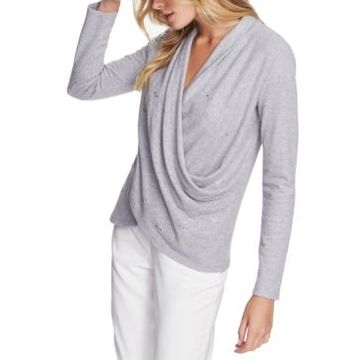 1.state Draped Embellished Top